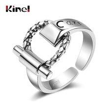 Винтажное серебряное кольцо kinel с пряжкой для ремня в стиле