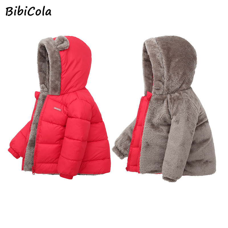 Baby Kids Girls Outerwear Winter Warm Thick Jacket Tops Coat Snowsuit Toddler