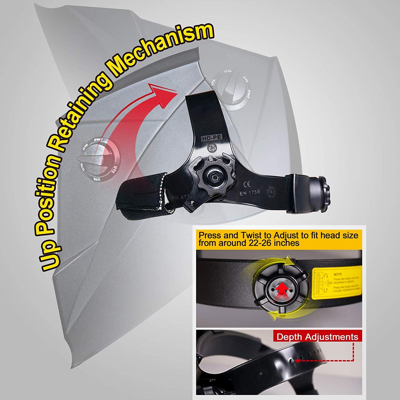 Energia Solar Auto Escurecimento Capacete de Soldagem com AntFi Smartlife X60 6 Ampla Faixa de Sombra - 5