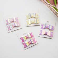 2Pcs/Set Swallowtai Baby Hair Clips For Girls l Pins Kids Shine Bling  Hairpin Bowknot Barrettes Accessorie
