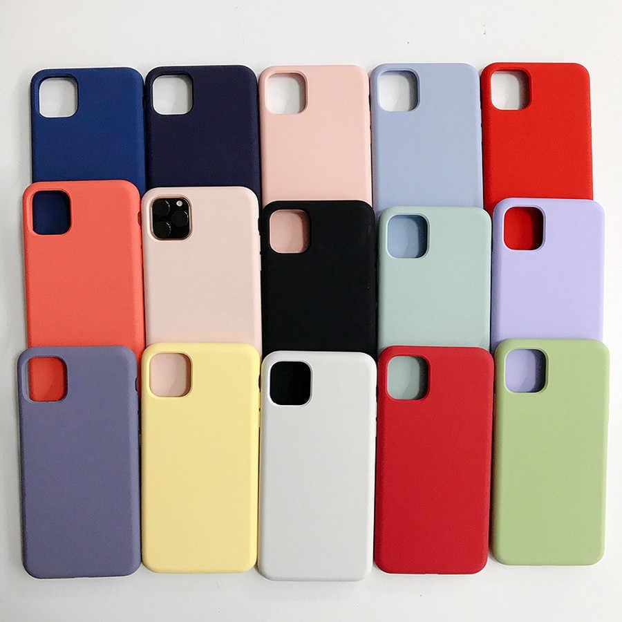 מקורי נוזל סיליקון מקרה עבור IPhone 11 פרו מקסימום מקרה עבור אפל XS Max XR X 8 7 6 6s בתוספת SE 2020 מלא כיסוי תיבת אין לוגו 1:1