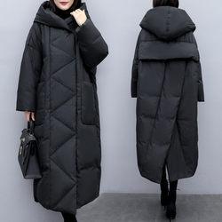 Winter Nieuwe Extra Grote Maat Koreaanse Jas vrouwen Kleding Losse Lange Fashion Black Down Katoenen Jas Vrouwen Parka Uitloper f2572