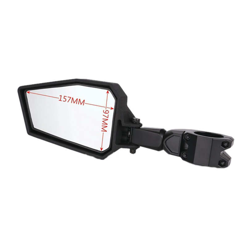 Sothat UTV Side Rear View Mirrors with Black Orange Blue Red Inserts 1.75 Inch Bar for RZR 800 900 1000 XP Turbo 2008-2019