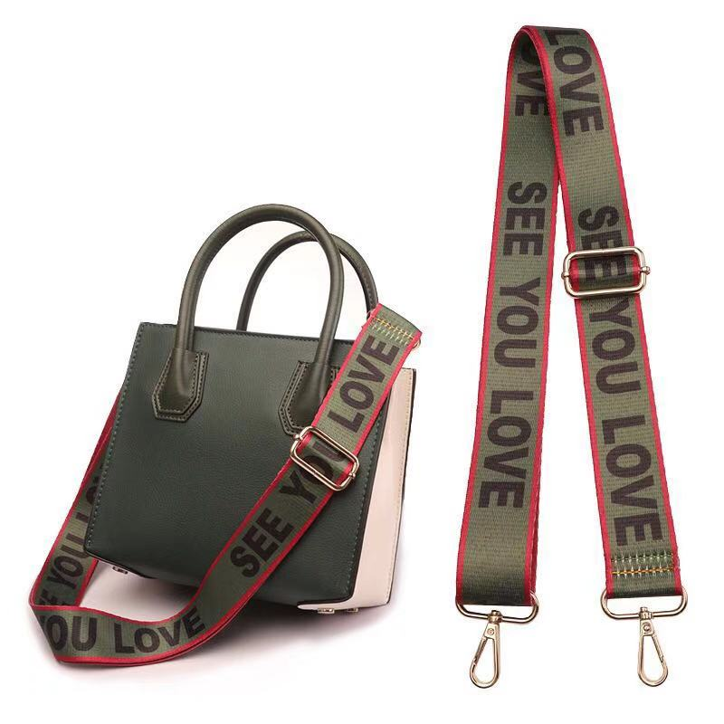 Adjustable Strap For Women's Bag National Wind Colours Wide Shoulder Straps Crosswise Widened Strap Mixed Shoulder Accessories