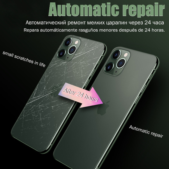Full Cover Hydrogel Film For iPhone 11 12 Pro Max mini XR XS X Screen Protector Back Film iPhone 7 8 Plus Camera Tempered Glass 4