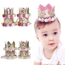 Новые Вечерние повязки на голову с короной день рождения для