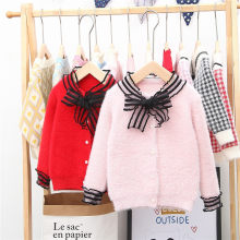 Kids' Sweater New Products Autumn And Winter Korean-style Children Girls Mink Cashmere Cardigan Source Factory Goods(China)