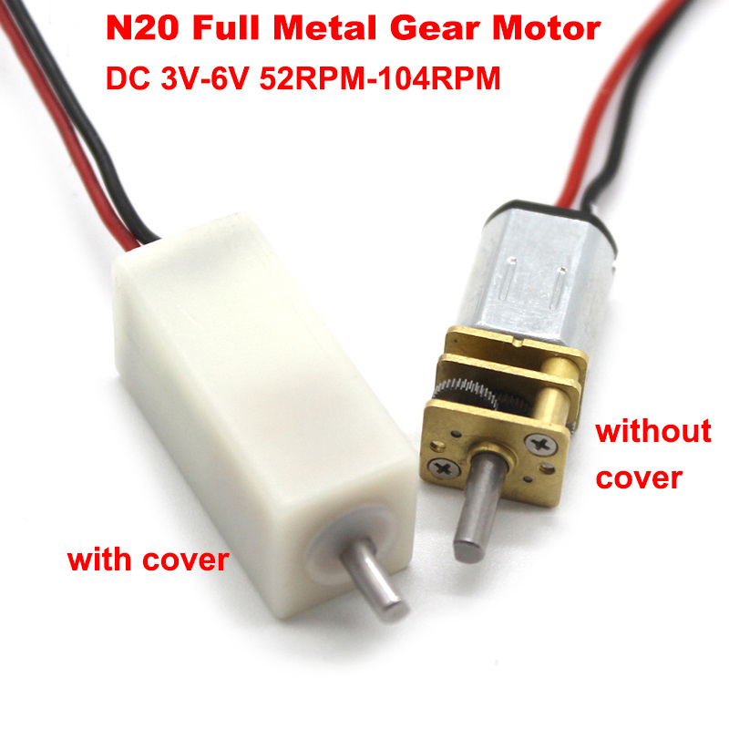DC 3V 145RPM Mini N20 Gear Motor Metal Gearbox Speed Reducer DIY Robot Car Lock