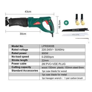 Image 2 - LANNERET 900W Elektrische Säge Säbelsäge Multifunktions Saber Hand Sah mit Rotierenden Griff für Holz und Metall Schneiden