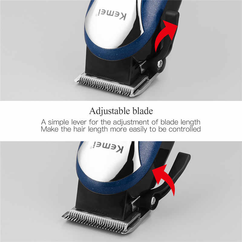 Kemei usb充電式バリカン男性理容プロフェッショナル電気毛トリマー液晶ディスプレイの毛切断機大人子供5
