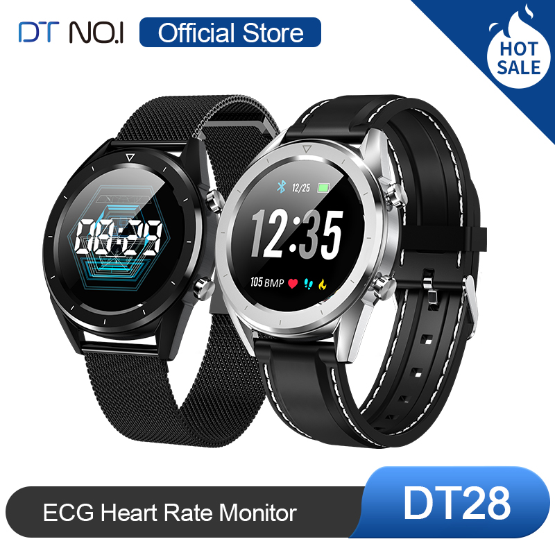 Hot Sale DTNO.I <font><b>DT</b></font> <font><b>NO</b></font>.<font><b>1</b></font> DT28 ECG Intelligent Smart Watch <font><b>Smartwatch</b></font> Activity Fitness Tracker Fashion Business Watch Men Q8 image