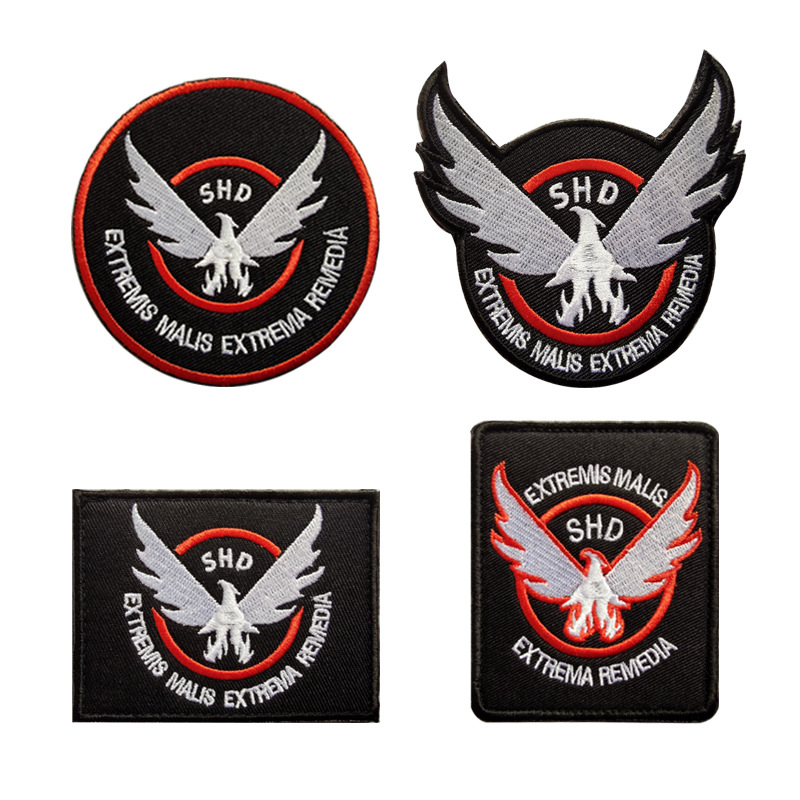 Whole Blockade of The Eagle Embroidery Velcro Tactical Patch Backpack Stickers Cap Badge Army Military Cloth Armband Applique