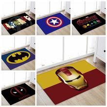 Дропшиппинг Марвел Мстители плюшевый ковер Железный человек Капитан Америка Человек-паук коврик хлопок Рождественский подарок игрушки для детей