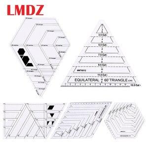 Image 1 - LMDZ שקוף אקריליק שליטים 45 תואר יהלומים שליט טלאי תפירה מלאכת שליט חיתוך שליטים בקנה מידה בית תפירת כלים