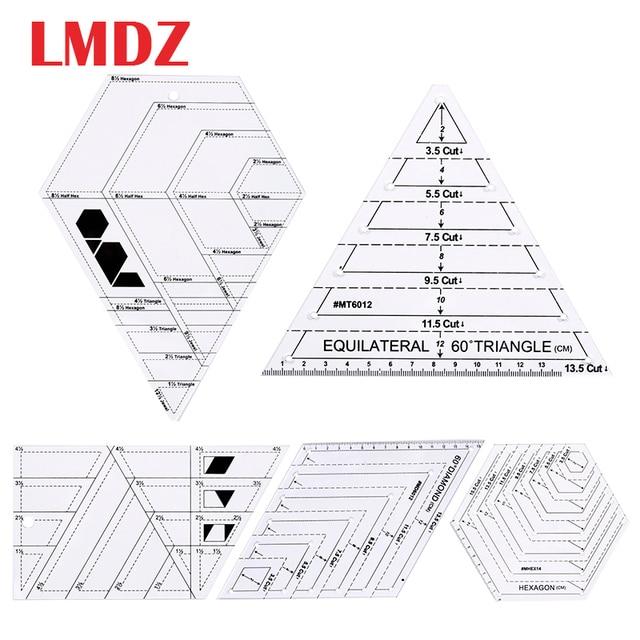LMDZ שקוף אקריליק שליטים 45 תואר יהלומים שליט טלאי תפירה מלאכת שליט חיתוך שליטים בקנה מידה בית תפירת כלים