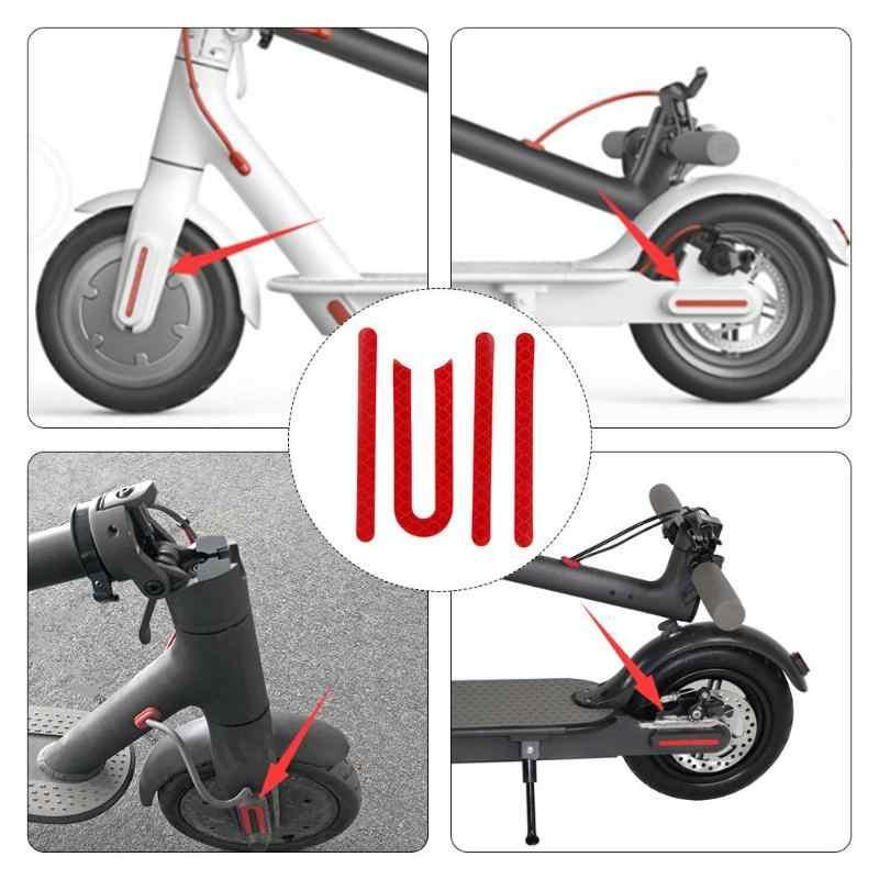 Anteriore Posteriore Pneumatico Della Ruota di Copertura Guscio Protettivo Adesivo Riflettente Per Xiaomi M365 Scooter Elettrico Parti di Skateboard