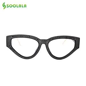Image 2 - SOOLALA Bling очки для чтения «кошачий глаз» женские с чехлом оправа для очков женские очки для дальнозоркости + 0,5 0,75 1,0 1,25 1,5 до 4,0