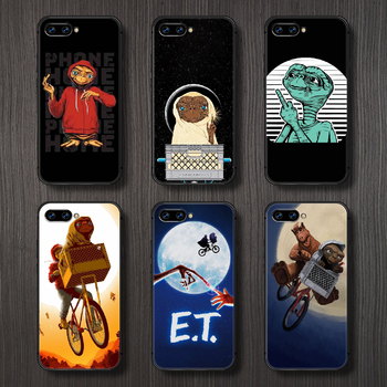 movie E.T. the Extra-Terrestrial Phone Case Cover Hull For HUAWEI honor 8 8c 8a 8x 9 9a 9x V10 MATE 10 20 I lite pro black image