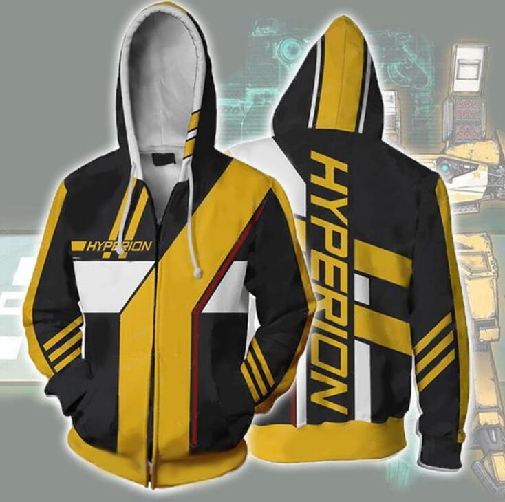 <font><b>Borderlands</b></font> 3 Hyperion Costumes <font><b>Borderlands</b></font> Hyperion Hoodies Sweatshirts Cosplay 3D printed fashion men women hooded jacket image