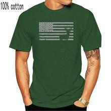 Camiseta con estampado de la bandera de América y caza de ciervos, Camiseta corta para hombre