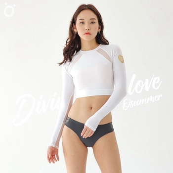 White diving suit swimsuit snorkeling surfing female long sleeve