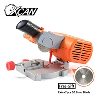 XCAN Multifuncation Mini Table Saw Bench Cut off Saw HSS Blade for Cutting Metal Wood Plastic with Adjust Miter Gauge