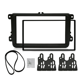 2 Din Car Fascia For VOLKSWAGEN Stereo Panel Dash Mount Installation Double Din Frame Install Kit Refit Fascia 178 *102mm 11 297 2 din car radio stereo fascia panel frame dvd dash installation kit for renault duster 2010 logan 2013 sandero 2012