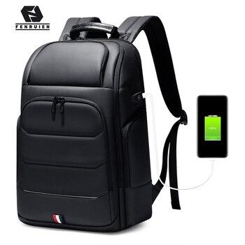 Fenruien Waterproof backpacks USB charging school bag anti-theft men backpack Fit 15.6 inch Laptop Travel backpack high Capacity
