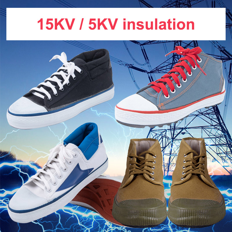 Insulation Shoes 5KV/15KV Anti-electric Labor Safety Leakage Prevention Electrician Insulating Shoes Canvas Safety Shoes Unisex