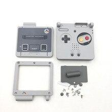 Kit de carcasa de plástico gris para GameBoy Advance SP, 10 Uds.