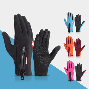 Windproof Cycling long finger Gloves Touch Screen Riding MTB Bicycle Gloves Thermal Warm Motorcycle Winter Autumn