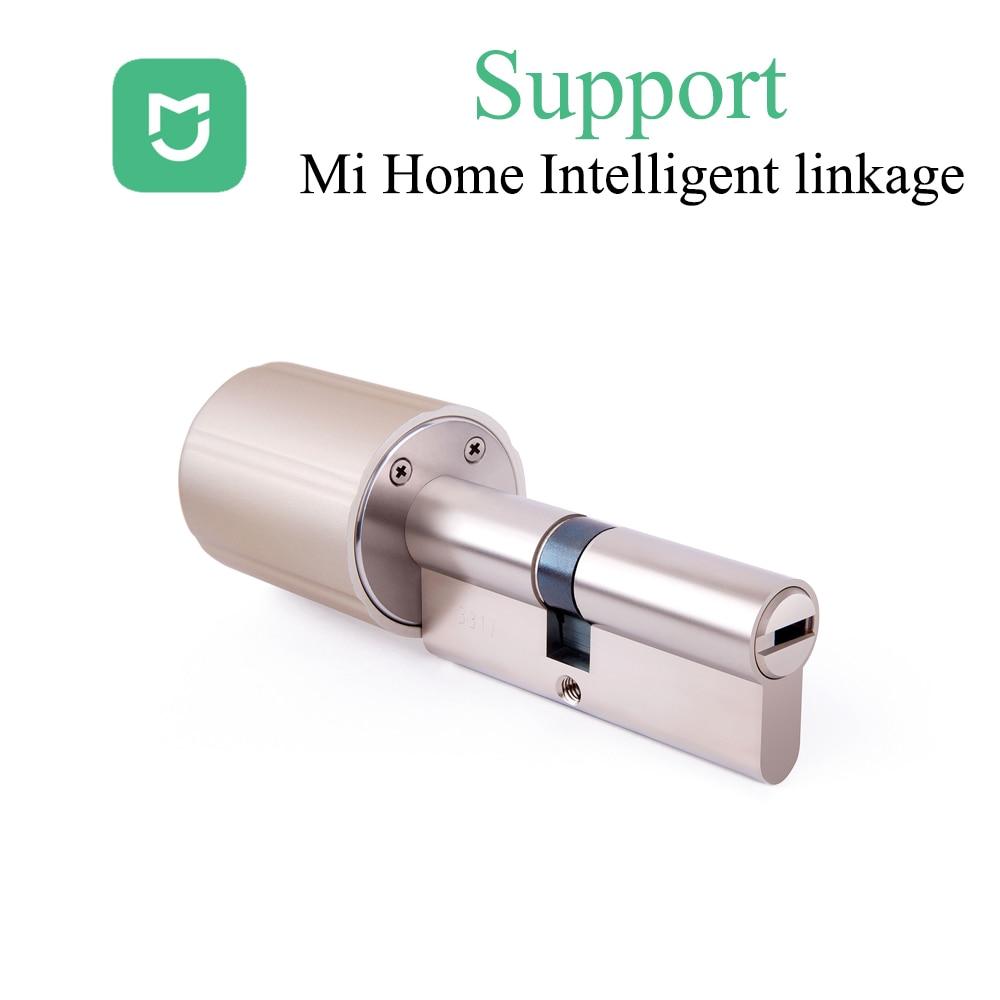Mihome Smart Lock Cylinder  Wireless WIFI Zigbee Lock Core Intelligent Encryption Door Lock E-keys Support For Mijia Mi Home APP