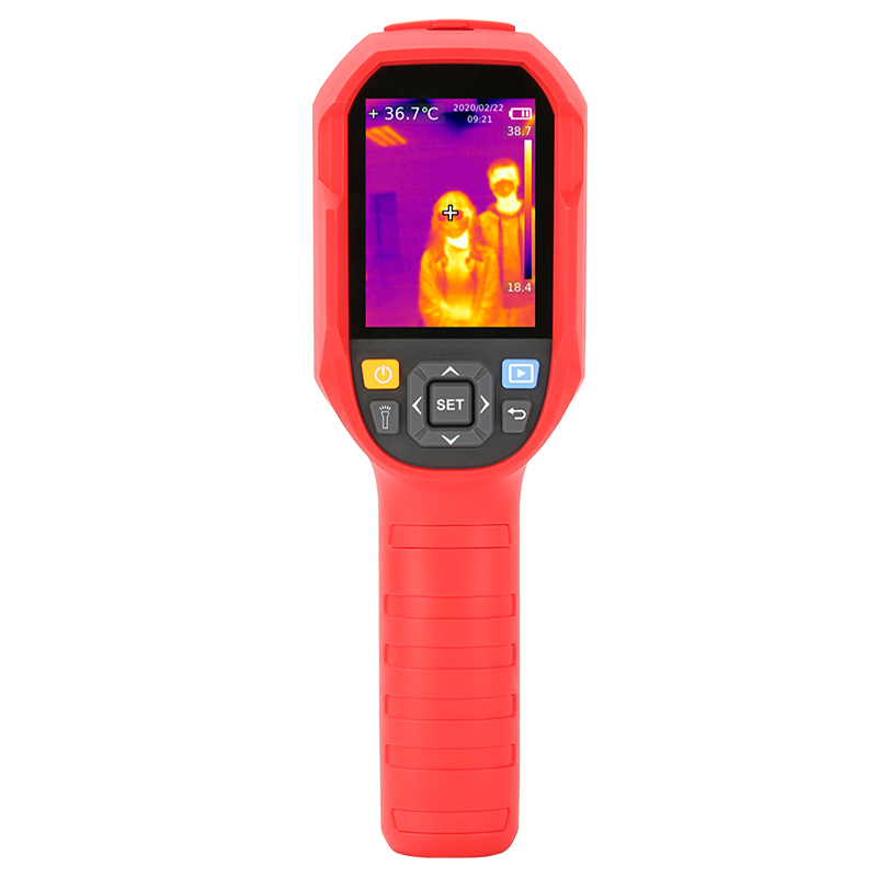 Digital Thermal Camera With A USB Cable Connected To Display For Temperature Measuring 7