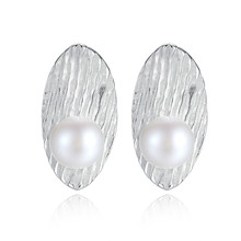 YUEYIN S925 Sterling Silver Earrings for Women Natural Pearl  Korean Cute Bling Jewelry