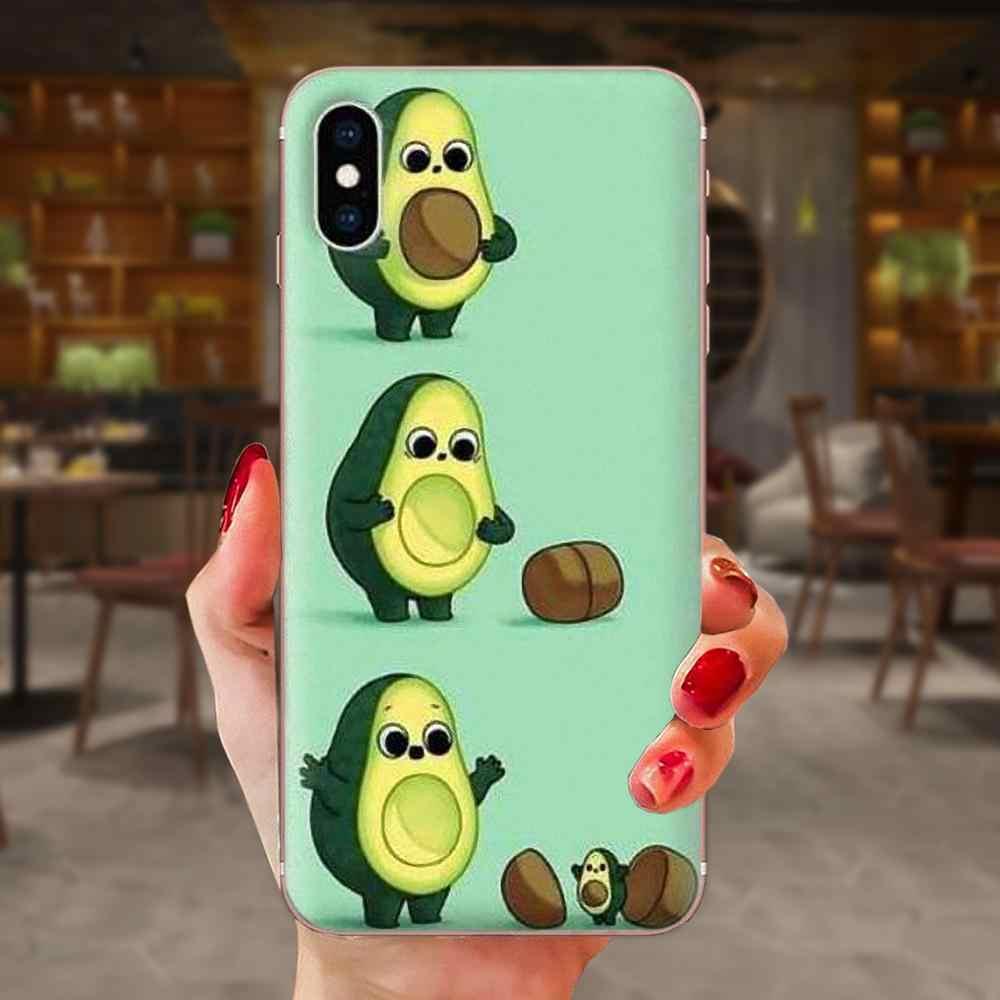 Sevimli avokado gıda yumuşak kapak kılıf Huawei onur Mate 7 için 7A 8 9 10 20 V8 V9 V10 G lite oyun Mini Pro P akıllı
