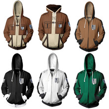 Jacket Shingeki Titan Attack On Costume Hoodie Eren Cosplay Anime No-Kyojin Sweatshirts