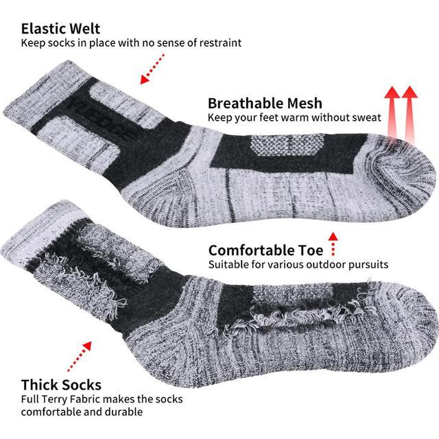 YUEDGE Brand 3 Pairs Cotton Socks 2