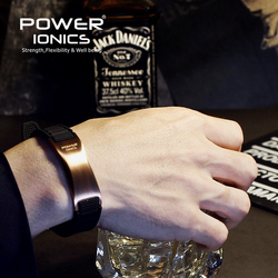 Power ionics antifatigue silicone Titanium ions balance tourmaline germanium charms bracelet wristband bangles Free Lettering