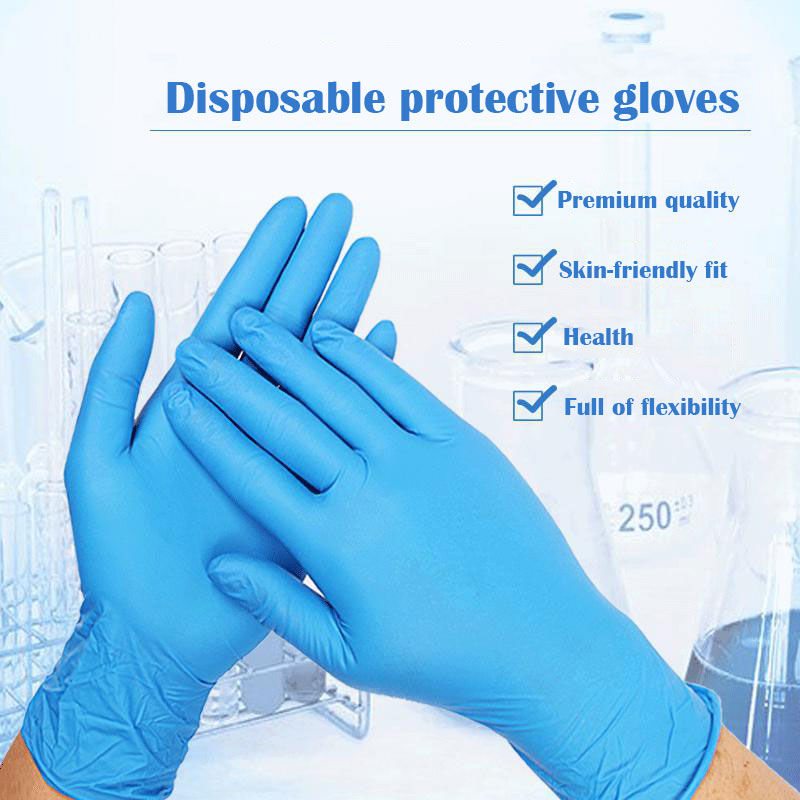 10/50 Pairs Disposable Protective Nitrile Gloves Household Food Grade Oil Resistant Protect Hand Anti Acterial Anti Dirty Glove