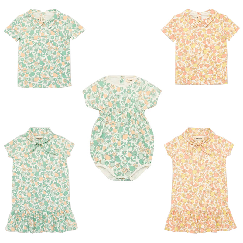 EnkeliBB Misha And Puff Baby Girl Floral Romper Beautiful Vintage Style Jumpsuit 2020 Summer Misha Puff Toddler Girl Clothes
