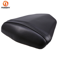 POSSBAY For Yamaha YZF R6 2006 2007 Motorcycle Motocross Rear Seat Cover Scooter Saddle Black Leather With ABS Plastic