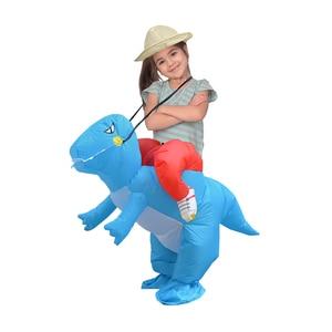 Image 3 - Надувной детский костюм Purim на Хэллоуин, вечеривечерние, динозавр, единорог, Женский костюм на Хэллоуин, Детский костюм для катания