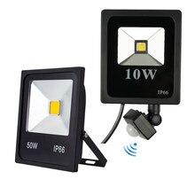 Светодиодный прожектор с датчиком движения 10 Вт 20 Вт 30 Вт, водонепроницаемый IP65 отражатель PIR 50 Вт foco светодиодный прожектор для наружного о...