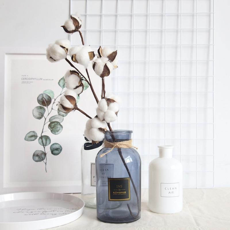 Естественно сушеные хлопковое, с изoбрaжeниeм цвeтoв, искусственные растения Цветочная отделка для Свадебная вечеринка Декоративные искусст...