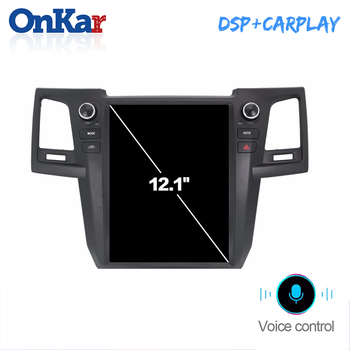 ONKAR Tesla Screen Radio For Toyota Fortuner 2012-2015 Android 8.1 6 Core Car Head Unit Android Auto CarPlay Plug and Play