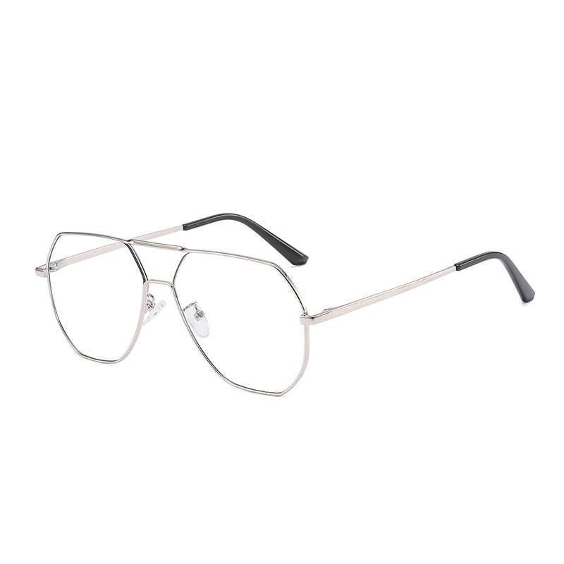 Винтажные негабаритные очки, оправа для женщин, синий светильник, блокирующие очки для мужчин, сплав, Ретро стиль, прозрачные оптические очки, очки