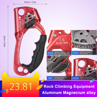 Outdoor Sport Hand Ascender Rock Climbing Tree Gear Equipment Rope Clamp For 8~13MM Rope Climbing Supplies Climbing Rope Tool