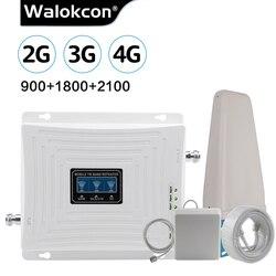 Сотовый усилитель GSM 2g 3g 4g повторитель 900 1800 2100 LTE 4g интернет-Усилитель GSM мобильный ретранслятор сигнала Сотовый усилитель