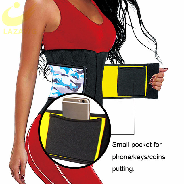 LAZAWG Neoprene Sauna Waist Trainer Corset Sweat Belt for Women Weight Loss Compression Trimmer Workout Fitness Hot Thermo Girdl 2