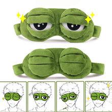 Eyeshade-Cover Eye-Mask Frog Plush Sad Soft 3D Adult Travel Kid Padded Rest Gifts Funny